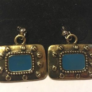 Turquoise earrings made by local artist